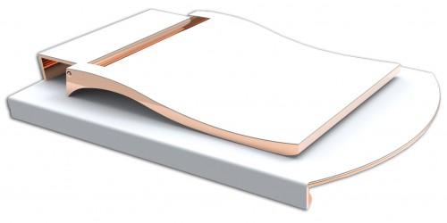 Stainless Steel Matt-Weiß-Soft-Gold