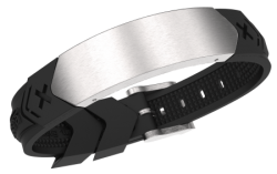 Pulsera Energiearmband Chrome-Black